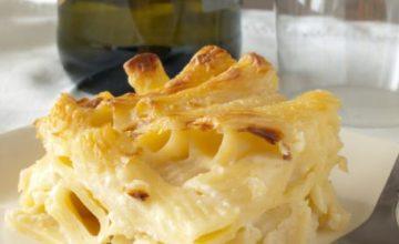 Maccheroni al forno ai 4 formaggi