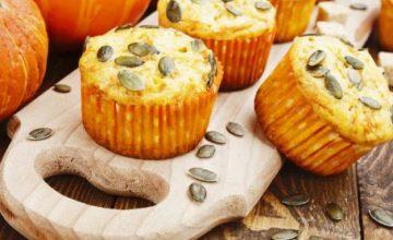 Muffin con prosciutto e zucca