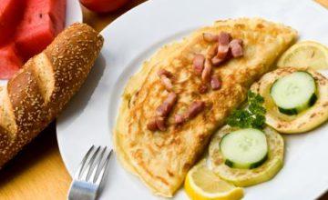 Omelette con pancetta
