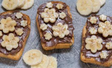 Panino al cioccolato e banana