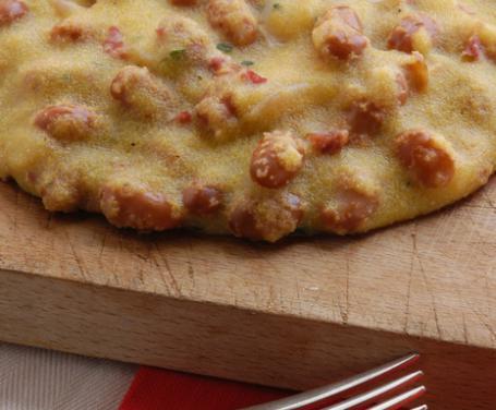 Polenta con fagioli e pecorino