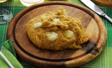 Crostini di polenta con gorgonzola