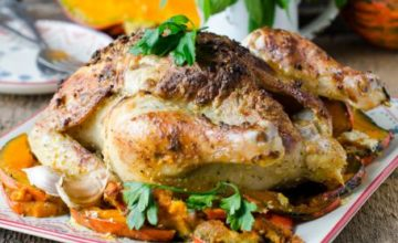 Pollo arrosto alla zucca