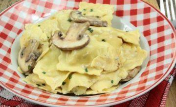 Ravioli con champignon