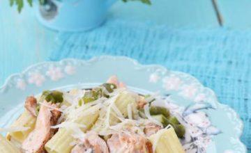 Rigatoni salmone e asparagi