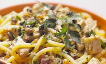 Spaghetti con pesce spada
