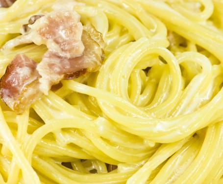 Spaghetti panna e pancetta