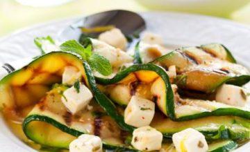 Zucchine grigliate con formaggio