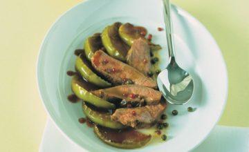 Petti d'anatra al pepe e gelatina di cotogne