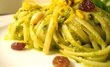 Linguine al pesto isolano