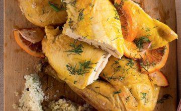 Pollo al sale con finocchietto e arancia