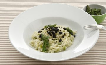 Risotto asparagi e olive