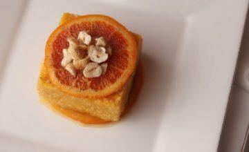 Quinoa con crema di zucca e arancia