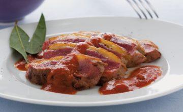 Petti d'anatra con salsa piccante
