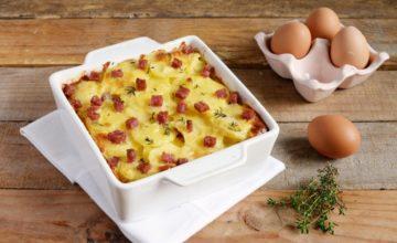 Sformato di patate, pecorino e salame