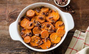Patate dolci al forno con noci pecan
