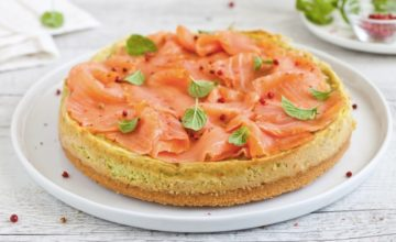 Cheesecake di avocado e salmone