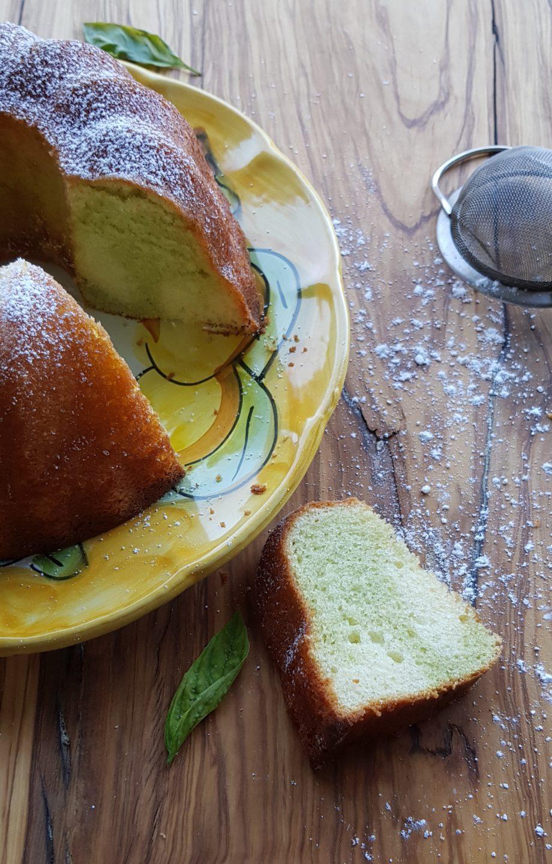 Ciambellone basilico e limone