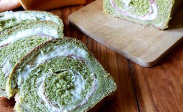 Rustico spinaci,prosciutto e mozzarella