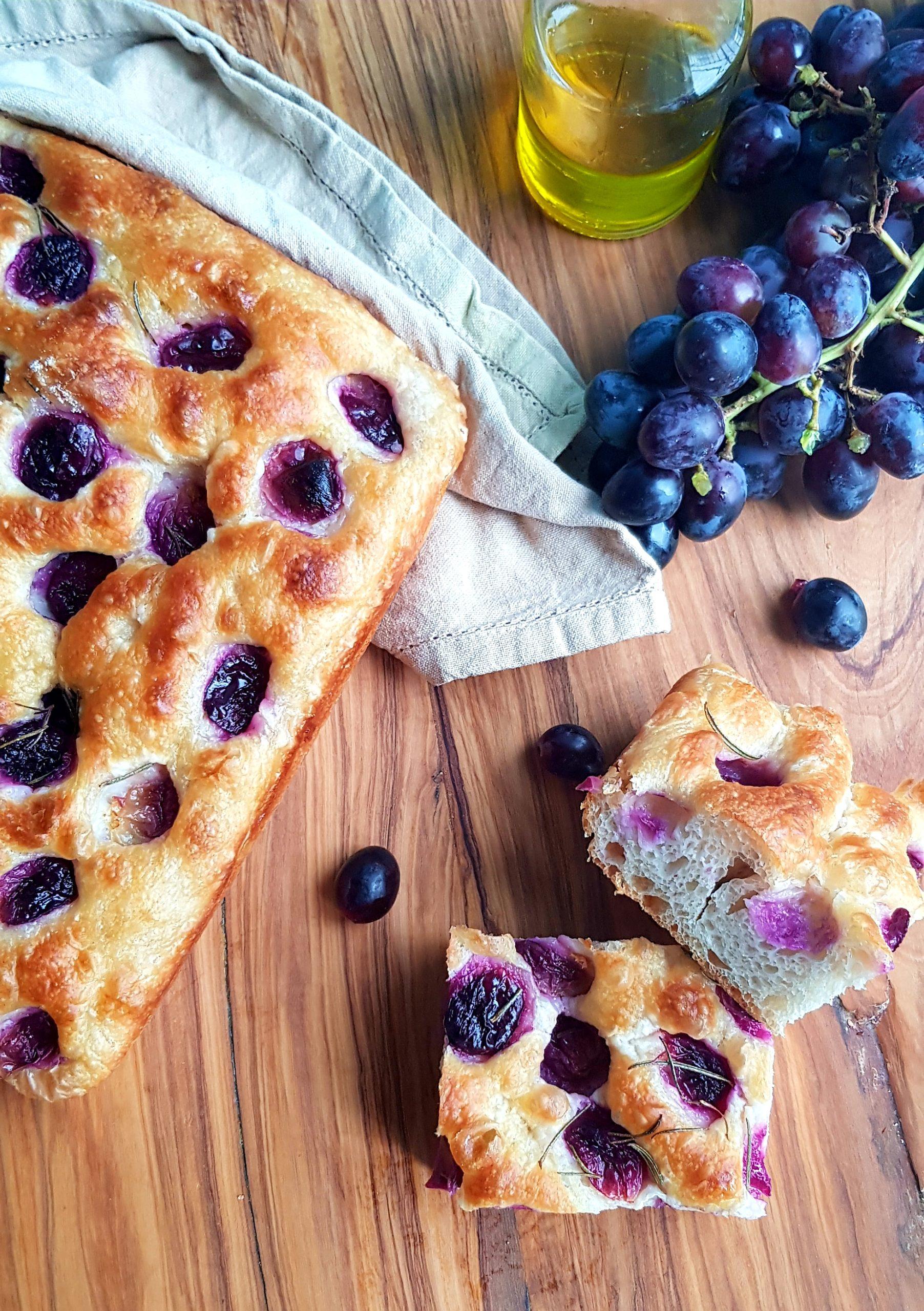 Focaccia con l'uva