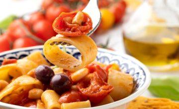 Calamarata vegetariana