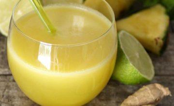 Centrifugato di ananas lime e zenzero