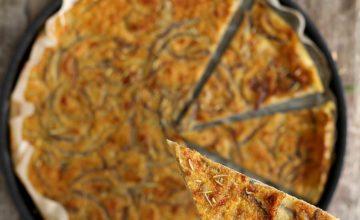 Farinata di ceci con cipolle